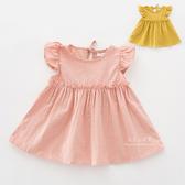 甜美背後綁帶娃娃長版上衣 童裝 上衣