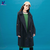【早秋新品】American Bluedeer - 連帽長版風衣外套(特價) 秋冬新款