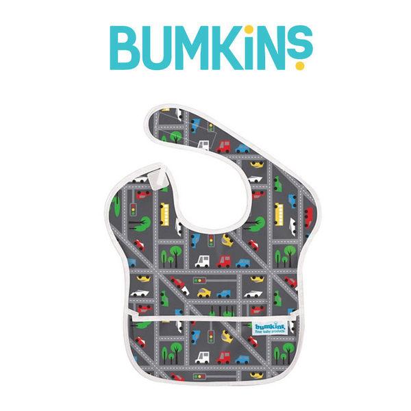 美國Bumkins 兒童防水圍兜 - 小車車 BKS-300