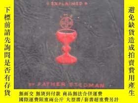 二手書博民逛書店英文原版天主教書籍2冊:Following罕見the Mass(1940年版)、My Sunday Missal(