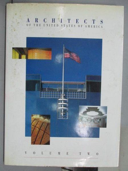 【書寶二手書T8/建築_QOL】Architects of the United States of America_V