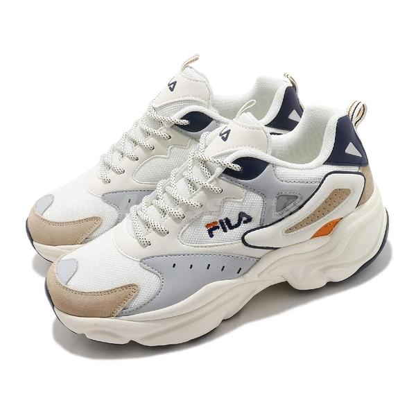 FILA 休閒鞋 J308V 白 灰 男鞋 厚底 增高 老爹鞋 復古慢跑鞋 韓國 韓系 【ACS】 1J308V117