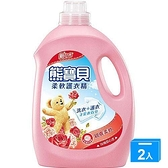 熊寶貝柔軟護衣精玫瑰甜心香3.2L【兩入組】【愛買】