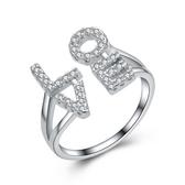 925純銀戒指 鑲鑽-簡單優雅生日情人節禮物女配件73an20【巴黎精品】