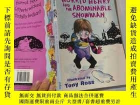 二手書博民逛書店Horrid罕見Henry and the Abominable Snowman 淘氣包亨利雪人Y2003