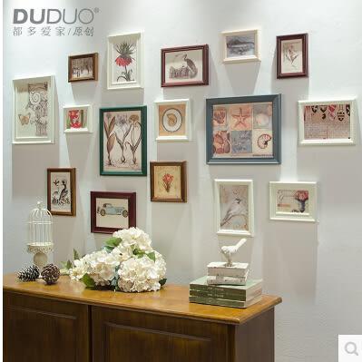 歐式原創 實木16框 組合照片牆 相片牆 創意組合相框