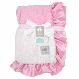 【美國just born】多用途寶寶攜帶毯-奢華玫瑰泡泡毯