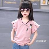 短袖T恤女童短袖2018新品夏裝t恤正韓寬鬆半袖中大童兒童棉質體恤上衣