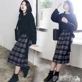 連身裙子女秋冬胖mm大碼氣質女裝初秋新款兩件套裝網紅洋氣潮 春季特賣