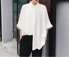 FINDSENSE Z1 韓國 時尚 潮 男 大尺碼 寬鬆蝙蝠袖 純色素面 短袖