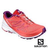 【SALOMON 法國】SENSE MARIN女運動健行鞋『珊瑚紅/白/葡萄紫』392485 越野鞋.健行鞋.多功能鞋