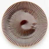 HOLA 日本洛紋餐盤 23cm 棕