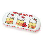 Sanrio HELLO KITTY PU皮革眼鏡收納盒(甜蜜蘋果)★funbox★ _428469