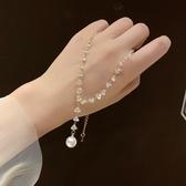項鏈 仙氣滿滿的水晶串珠項鏈小清新短款鎖骨鏈優雅氣質百搭珍珠吊墜女