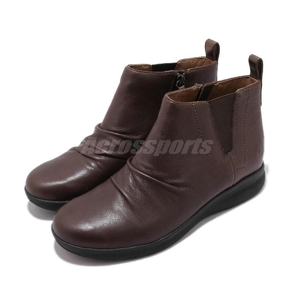 Clarks 休閒鞋 Un Adorn Mid 咖啡 真皮鞋面 女鞋 【PUMP306】 CLF36862AB18