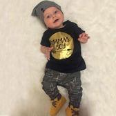 男寶寶短袖套裝 MAMA 上衣 長棉褲 歐美嬰兒童裝 SK227