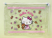 【震撼精品百貨】凱蒂貓_Hello Kitty~日本SANRIO三麗鷗 KITTY 透明拉鍊收納袋/化妝袋-熊#04501