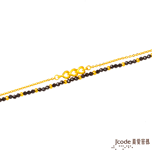 J'code真愛密碼 心戀愛 黃金/尖晶石手鍊-雙鍊款