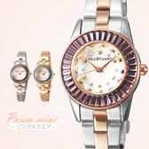 JILL STUART 方晶鋯石玫瑰金手錶 都會時尚新女性金屬腕錶 柒彩年代【NE1017】原廠公司貨