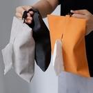 紙巾盒 歐美羊巴翻毛皮革紙巾盒 簡約家用車載紙巾套 廁所客廳掛式抽紙套 晶彩