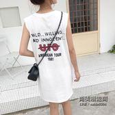 裙子女ins超火短袖t恤韓國學生百搭無袖上衣服