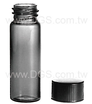 《美製》茶色螺蓋樣本瓶 黑蓋橡膠墊片 Vial, Sample, Screw Thread, Amber, Rubber Lined Closure