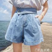 現貨出清夏裝新款韓版寬鬆時尚百搭闊腿高腰顯瘦短褲牛仔褲女裝褲子潮   伊鞋本鋪