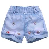 兒童牛仔短褲女童薄款熱褲子夏季新款中大童裝三分褲小女孩