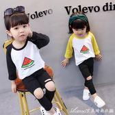 女寶寶打底衫秋裝新款1長袖2韓版3純棉4周歲女童秋季上衣t恤 艾美時尚衣櫥