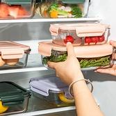 便當盒 玻璃飯盒分隔型上班族微波爐加熱專用碗學生保鮮便當帶蓋餐盒套裝【快速出貨八折搶購】