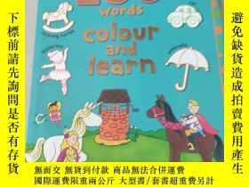 二手書博民逛書店my罕見first 200 words colour and learn:我的前200個單詞顏色和學習Y212