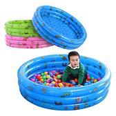 充氣游泳池+打氣筒 加厚PVC球池 嬰幼兒童戲水池 沙池 三環圓形泳池-80CM JoyBaby