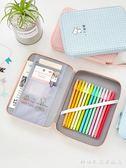 韓國帆布筆袋 簡約小清新大容量鉛筆袋 可愛中學生多功能文具盒女 科炫數位旗艦店
