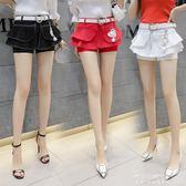 新款夏防走光彩色牛仔褲裙女高腰包臀半身裙荷葉邊短裙魚尾裙 東川崎町