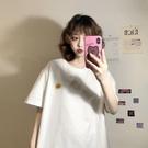 中長款T恤 寬鬆衣服夏季2020新款韓版長款打底衫網紅上衣白色短袖T恤女ins潮 店慶降價