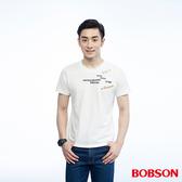 BOBSON  男款繡印字體上衣(26019-81)