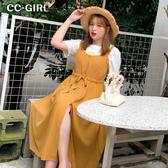 中大尺碼 抽繩背心裙長洋裝~共兩色 - 適XL~5L《 67029 HH 》CC-GIRL  新品