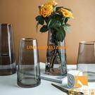 玻璃花瓶干花裝飾擺件客廳插花鮮花水養玻璃瓶【慢客生活】