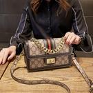 手提包 小ck女側背包2020新款 潮夏天洋氣鏈條手提小方包 時尚寬帶單肩斜挎包 店慶降價