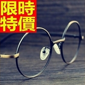 眼鏡架-羅馬復古雕花圓框男鏡框2色64ah28【巴黎精品】