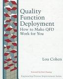二手書博民逛書店《Quality Function Deployment: How to Make QFD Work for You》 R2Y ISBN:0201633302