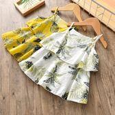 童裝女童洋裝夏裝韓版中小兒童吊帶菠蘿裙漏肩洋氣裙子