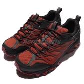 Merrell 戶外鞋 Moab FST 紅 黑 男鞋 Gore-Tex 防水 越野 登山 休閒鞋 運動鞋 【PUMP306】 ML35765