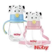 Nuby 晶透杯系列 大麥町狗狗兩用造型杯 360度吸管 (多款式) 麗翔親子館