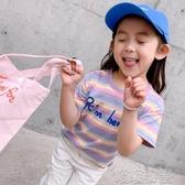 女童短袖T恤-女童短袖T恤2020新款春夏裝童裝中大童兒童時尚韓版小女孩上衣 喵喵物語