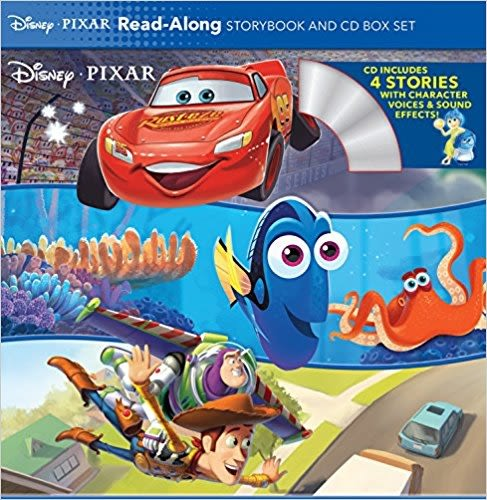 【迪士尼選有聲書超值組】DISNEY PIXAR READ ALONG STORYBOOK & CD /內含4書+1CD
