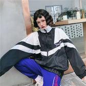 夏季正韓ulzzang防曬衣女學生寬鬆拼色chic薄款外套潮優樂居生活館