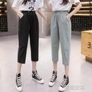 亞麻褲 七分棉麻褲子女2021年新款夏季薄款寬鬆亞麻休閒小腳顯瘦高腰哈倫