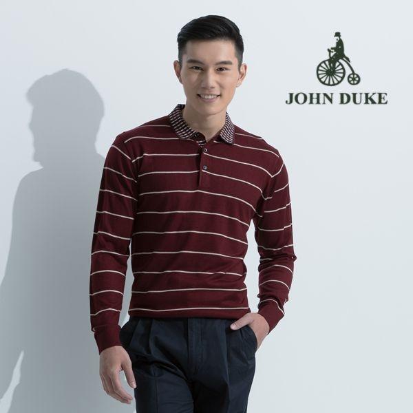 JOHN DUKE 約翰公爵舒適保暖長袖毛衣(酒紅)