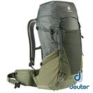 【德國 deuter】FUTURA PRO透氣網架背包 40L『墨綠/卡其』3401321 後背包.手提包.雙肩背包.旅遊